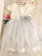 Детское нарядное платье на девочку Снежинка