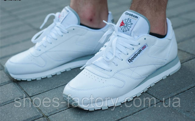 Reebok Classic Leather кожа белые
