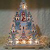 """Новогоднее украшение, рождественская горка-семисвечник """"Ёлка"""""""