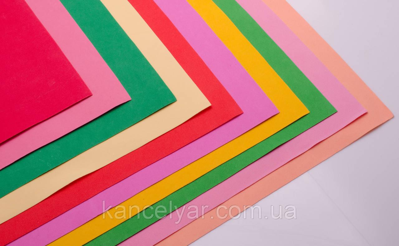 """Фоамиран """"пластична замша"""": 1 мм, 10 листів, 50х50 см"""
