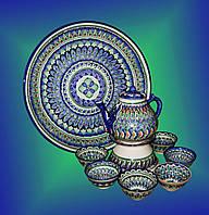 Узбекский чайный набор. (10 предметов)
