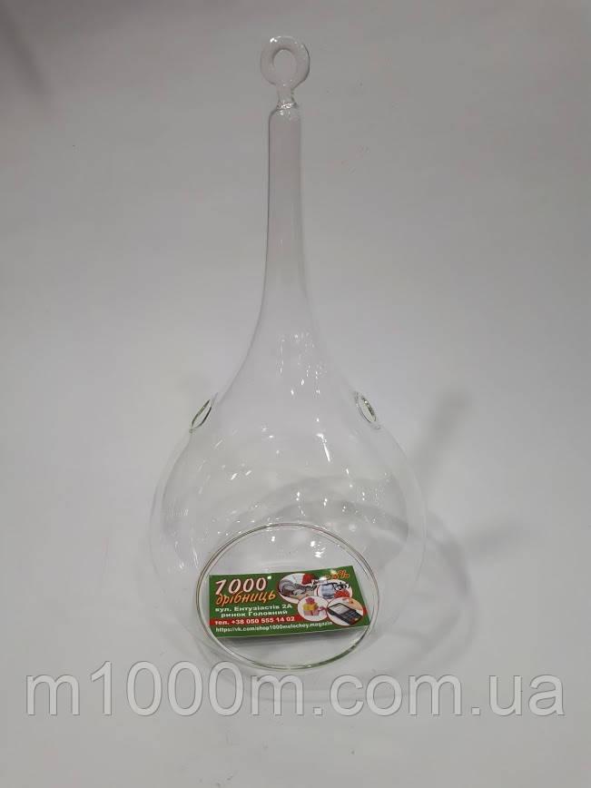 Шар стеклянный подвесной Капля 14см, 8960