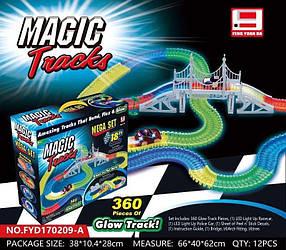 Детский гоночный трек Magic Tracks FYD170209-A. 360 деталей. Мост