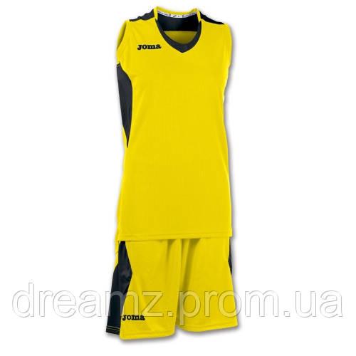 e48326e0 Баскетбольная форма женская желто-черная Joma SET SPACE 900121.901 -  Интернет-магазин спортивных товаров