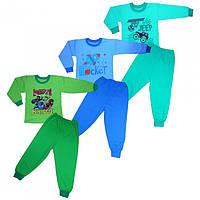 Теплая пижама для мальчика, размеры от 4 лет  до 7 лет