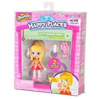 Happy Places. Кукла HAPPY PLACES S1 – ТИАРА СПАРКЛС (2 эксклюзивных петкинса) (56411)