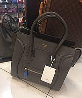 Женская сумка Celine Селин качественная эко-кожа серая