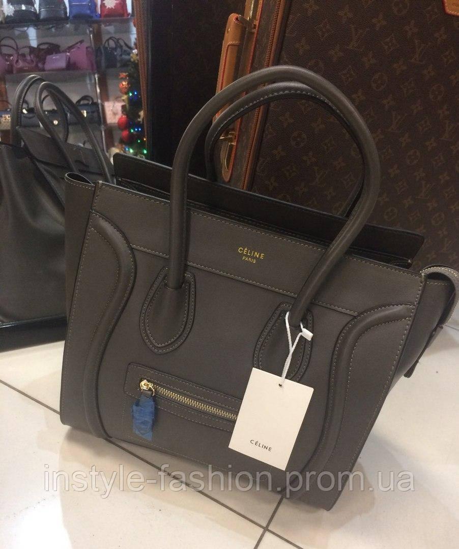 Женская сумка Celine Селин качественная эко-кожа серая  купить ... 00805925278
