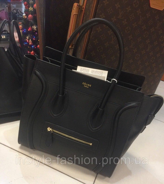 Женская сумка Celine Селин качественная эко-кожа черная