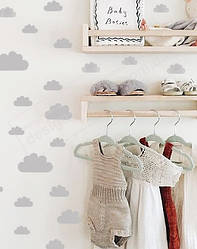 """Виниловые наклейки на стены  """"Мини-облака"""""""
