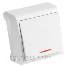 Выключатель 1-клав. с подсветкой VIKO Vera белый