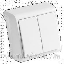 Выключатель 2-клав. VIKO Vera белый