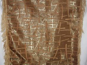 Покрывала двусторонние на большие кровати Брызги шампанского песочный, фото 2