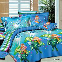 Детский полуторный постельный комплект белья Фиксики