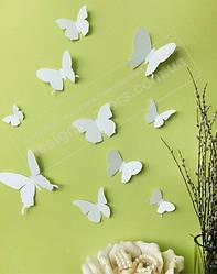 3Д Метелики білі