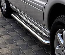 Подножки на Volkswagen Amarok (c 2010---) фольксваген Амарок PRS