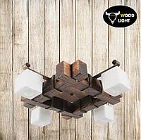 Потолочная деревянная люстра