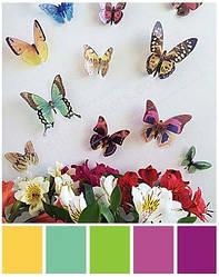 3D бабочки микс пластиковые