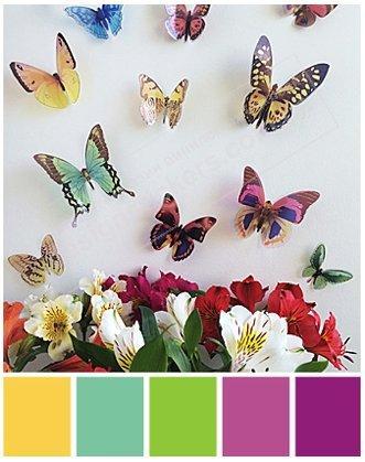 3D бабочки микс пластиковые - Интернет-магазин UpDecor в Днепре