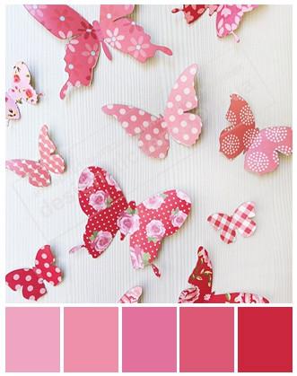 Метелики 3D об'ємні рожеві