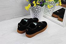 Кроссовки женские Puma Suede замшевые,черные, фото 2