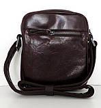 Мужская сумка- планшет. Натуральная кожа. Италия. Черный, фото 7