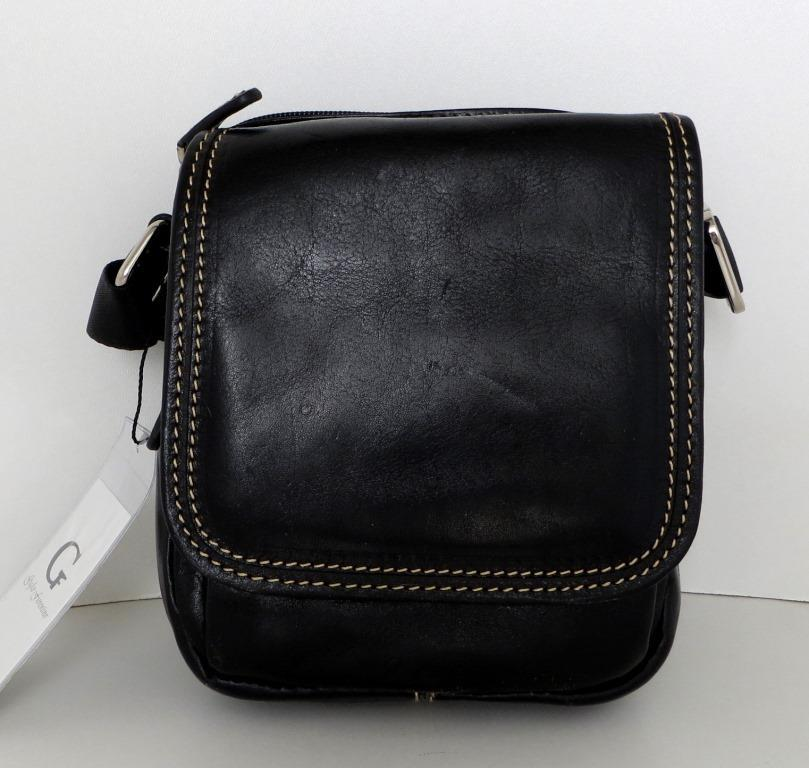 Мужская сумка- планшет. Натуральная кожа. Италия. Черный