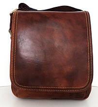 Мужская сумка- планшет. Натуральная кожа. Италия. Коричневый
