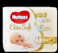 Подгузники HUGGIES Elite Soft Newborn 1 ( 2-5кг) 26шт.