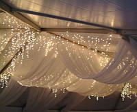 Украшение свадебных залов тканью