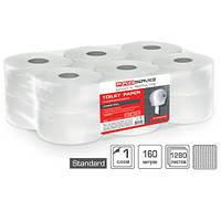 Туалетная бумага Pro-Service Standart целлюлозная однослойная 160 м.1280 отрывов