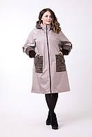Женский демисезонный плащ, пальто батал