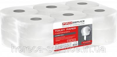 Туалетная бумага PRO-Service Standart однослойная, целлюлозная белая 160 м. 1067 отрывов