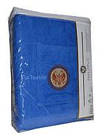 Наборы для сауны и бани Килт+полотенце+тапочки Голубой