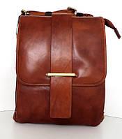 Мужская сумка- планшет. Натуральная кожа. Италия. Коричневый, фото 1