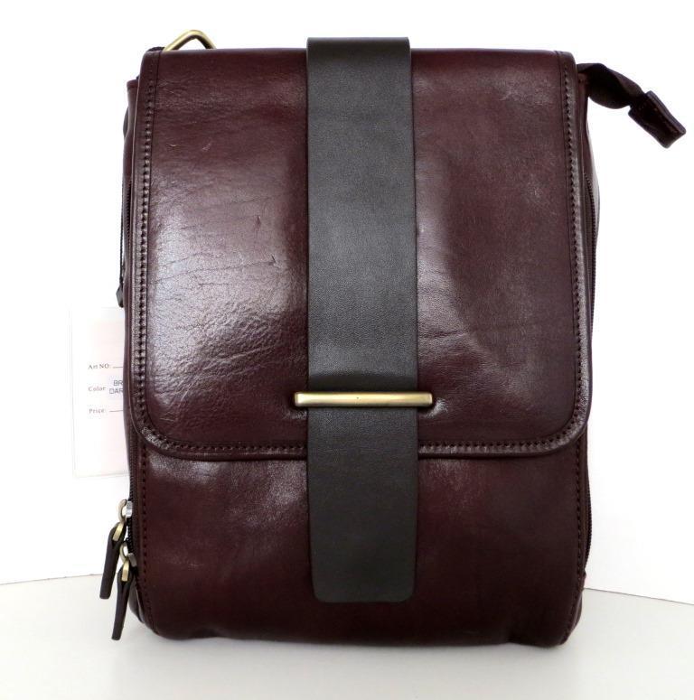 Мужская сумка- планшет. Натуральная кожа. Италия. Темно-коричневый