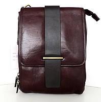 Мужская сумка- планшет. Натуральная кожа. Италия. Темно-коричневый, фото 1