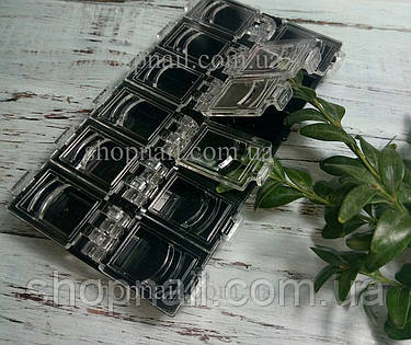 Контейнер с крышками для хранения декора, на 12 секций, черный, фото 2