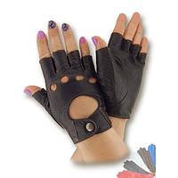 Вело перчатка из натуральной кожи без подкладки модель 471.