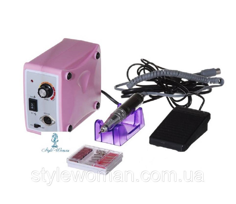 Фрезерный аппарат фрезер Nail Drill Set ZS-701 65вт 35 000 оборотов розовый