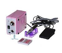 Фрезерный аппарат фрезер Nail Drill Set ZS-701 65вт 35 000 оборотов розовый, фото 1