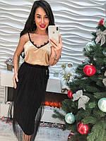 Потрясающая юбка с меховым брелком