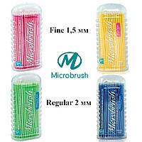 Аппликаторы микробраш для нанесения жидкостей (100 шт. в упаковке), Microbrush (США)