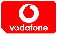 Красивый золотой номер Vodafone 095-628-4-555