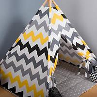 """Вигвам детский с ковриком и подушка (в подарок на выбор) """"Пчелка"""", фото 1"""