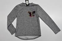 """Теплый свитер """"Бабочка"""" (пайетки-перевертыши) 134-152 см"""