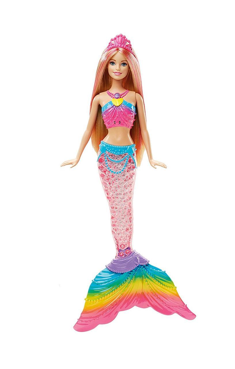 Кукла Барби русалочка яркие огоньки Barbie Dreamtopia Rainbow Lights Mermaid Doll, Blonde