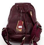 Рюкзак женский.  Коричневый. Натуральная кожа, фото 8