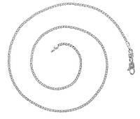 Цепочка белая позолота 45 см, фото 1