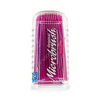 Аппликаторы микробраш для нанесения жидкостей (100 шт. в упаковке), Microbrush (США) 1.5 мм (розовые)